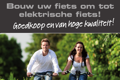 e-BIKE EFOS ombouwsets voor het ombouwen van u fiets tot elektrische fiets