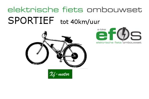 Sportief fietsen maximaal 25 km/uur  of zelf tot 40km/uur