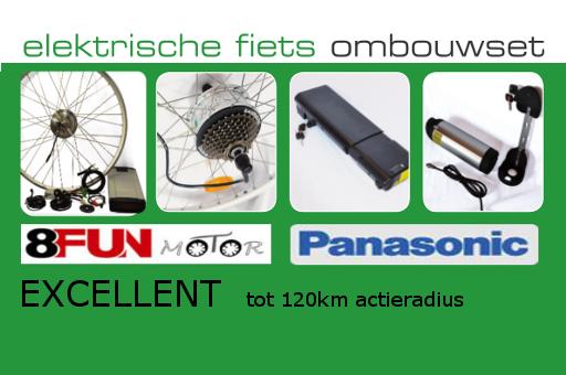 EBIKE-EFOS ombouwsets met  hoge kwaliteit merkonderdelen zoals, Panasonic.