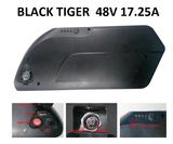 Fiets accu  speed bike EBIKE-EFOS Black Tiger 48volt 17.25ampere accu, batterij ombouwset sportief