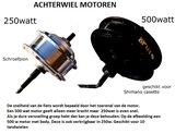 Achterwiel motoren voor elektrische fiets met body ebike-efos