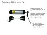 Accu ombouwset elektrische fiets Bidon accu 48volt 10ampere of 36volt 12a  of 7a36v