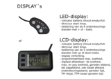 Led-display of Lcd-display