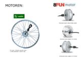 250watt motoren 36volt elektrische fiets www.ebike-efos.nl