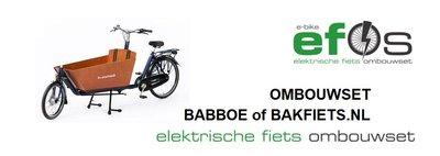 Elektrische fiets ombouwset voor een BABBOE City of Cargo Bike Long tweewielbakfiets van EBIKE EFOS