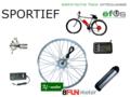 OMBOUWSET-SPORTIEF 40km uur high speed bike Fiets ombouwen of elektrisch maken tot elektrische fiets. Met ombouwset of ombouwki