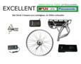 OMBOUWSET-EXCELLENT Bouw uw gewone fiets om tot elektrische met een ombouwset van EBIKE-EFOS met  een power accu van 17a 36v ee