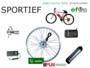 Ombouwset SPORTIEF: snelle motor, 48v bidon frame accu, 40km/uur speedbike